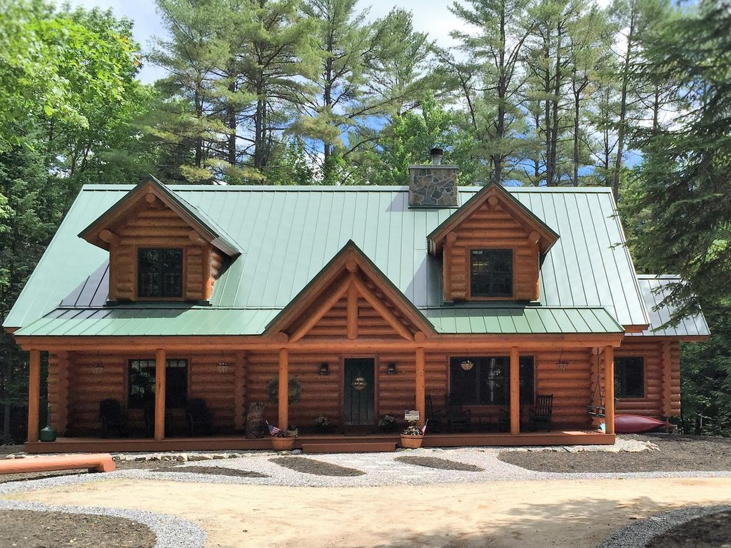 Authentic Log Home Sebago Long Lake Area In Naples Harrison Windham Bridgton 5 Br Vacation