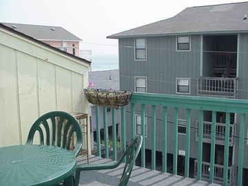 Front deck with view of Ocean, 1/2 block to beach access