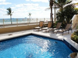 Fort Lauderdale house photo - Fabulous pool with palm trees and ocean view!