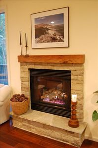 Carmel house rental - Cozy Gas Firplace Offers Warmth & Ambiance