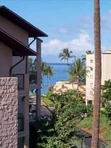 View from Lanai to Kam 1 Beach
