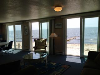 Yarmouth cottage photo - Our 4BR oceanfront, triple set of sliders overlooking private beach