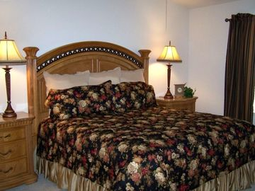 Master Bedroom Suite with King Size Bed and private bath with shower