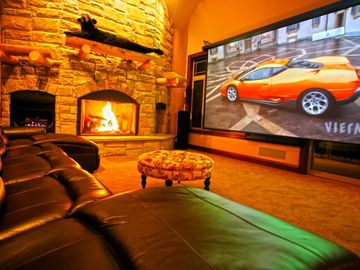 Canaan Valley estate rental - Great Room - 16' HD Theater, Surround Sound, Club Lights & Aurora Shadow Theater
