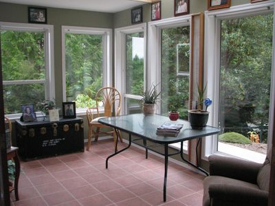 sunroom great for morning coffee, tea or just relaxing - gets warm morning sun