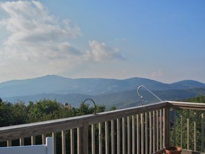 Mountain Lodge Realty Top of the World View of Beech Mountain Resort from deck