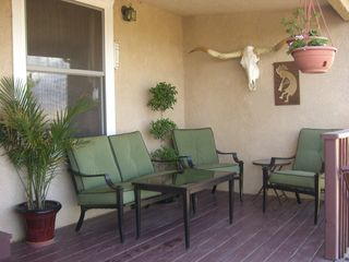 Albuquerque house photo - A nice front porch set-up for reading or relaxing with a nice cold drink.
