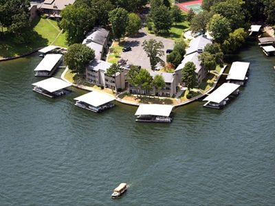 Bird's Eye View of the Moorings Condos.