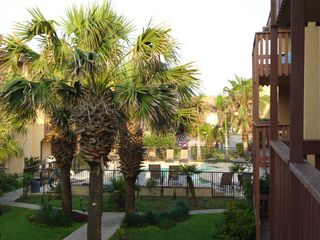 South Padre Island condo photo - Pool area from balcony walkway