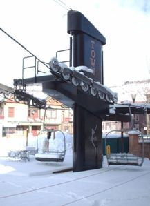 """Town Lift"", accessing  Park City Mountain Resort, just a few blocks away."
