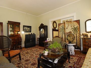 Living room with ecclectic antiques