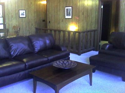 Beech Mountain chalet rental - Now new flooring! Lovely and lush yard. Private deck amoung mature trees