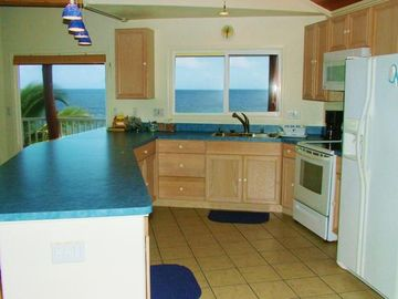 Another View Of The Spacious Kitchen With A VIEW!