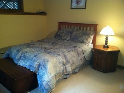 Quechee house rental - Lower Floor Bedroom with Full-Size Bed