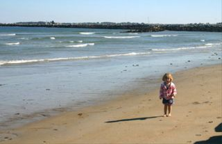 Saco house photo - Low Tide with child on the beach