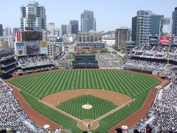 Petco Park -2 blocks away