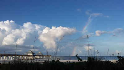 Rainbow over Ft. Myers Beach pier.