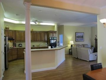 View of Kitchen and partial living room from breakfast nook