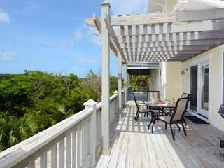 Governor's Harbour house photo - Rear deck with outdoor dining area