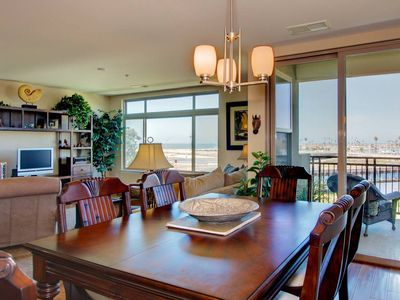 Oceanside condo rental - Panoramic Views from Living Room, Dining Room, Kitchen, and Master Bedroom