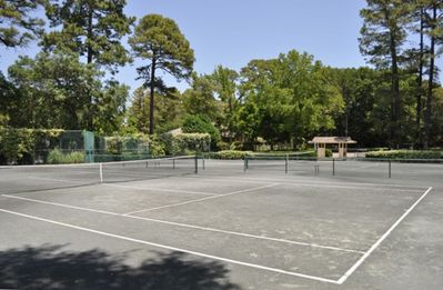 Tennis courts next door at the Port Royal Racquet Club.