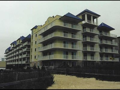 Adagio from beach. Unit 205 is 2nd balcony back - 35 yards from beach entrance