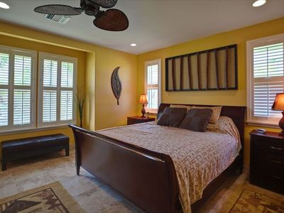Elegant Master Bedroom offers  King size Bed and upscale furnishings