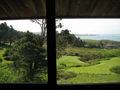 Mendocino house rental - view from upstairs bedroom
