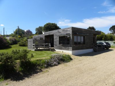 New wooden house with spa, sauna has LOCQUIREC (29), quiet 800 m from the beach
