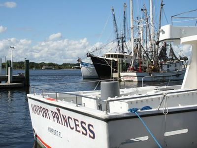 shrimpers are a common sight in the area