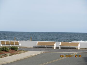 Vacation Homes in Ocean City townhome rental - View from front porch with beach access.