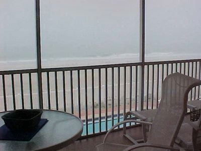Balcony with View of Pool, Beach and Gulf of Mexico