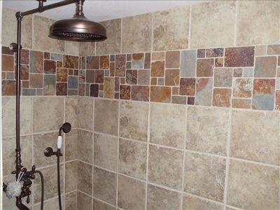 Pequot Lakes cabin rental - Rain Shower