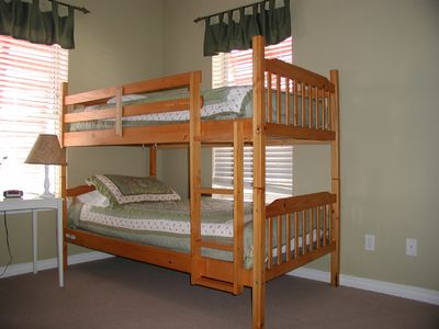 2 sets of bunk beds for the kids