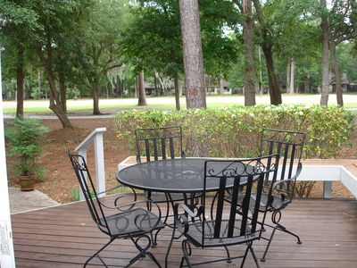 Bluffton house rental - Perfect spot for your morning coffee or sunset cocktail