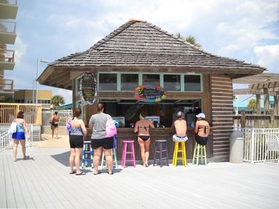 TRY A PINA COLADA OR FROZEN MARGARITA AT OUR TIKI BAR!