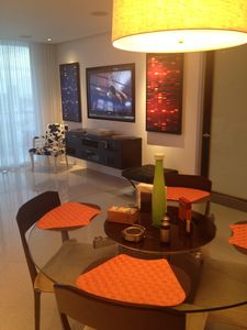 Dining, and living area TV