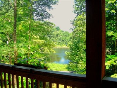 Front Porch View of Lake