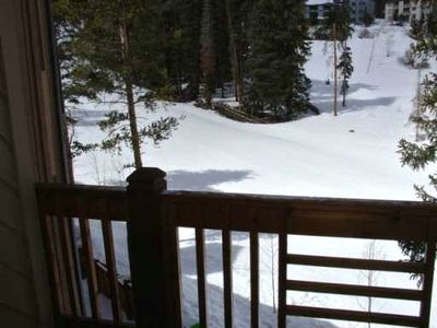 Deck Overlooking 4 O'Clock Ski Run - True Ski In Ski Out Access