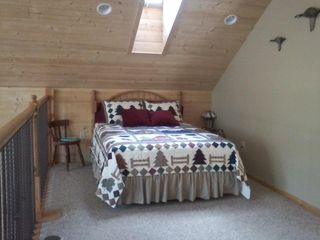 Comfy new Queen bed in loft, see the stars through the skylight. - Williams house vacation rental photo