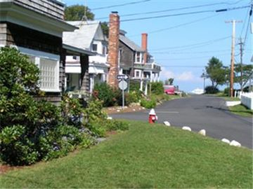 Looking down street toward park and Inkwell Beach