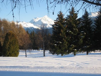 In winter the golf course becomes a walker's paradise.