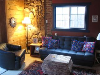 Wrightwood cabin photo - The Hideaway's chic and cozy living area