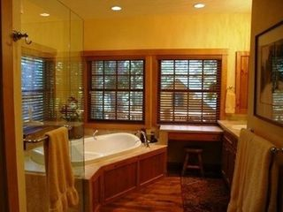Jackson Hole house photo - MASTER BATH WITH SEPARATE DEEP SOAKING TUB AND SHOWER, TWO SINKS, WALK-IN CLOSET