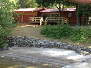 Brant Lake cabin photo - Private Sandy Beach with Easy Access.
