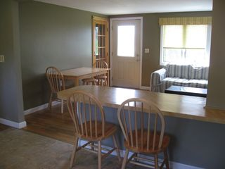 Point Judith house photo - Kitchen and dining area (seating for 8)