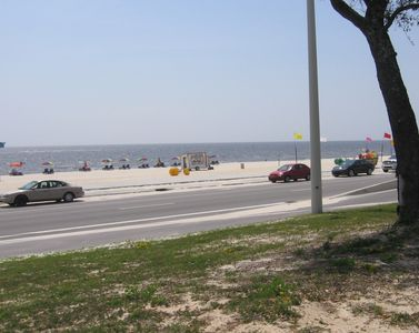 Biloxi Beach across the blvd.