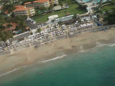 Playa Cofresi villa rental - Helicopter view of Vip beach