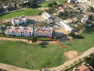 View of complex showing condo location