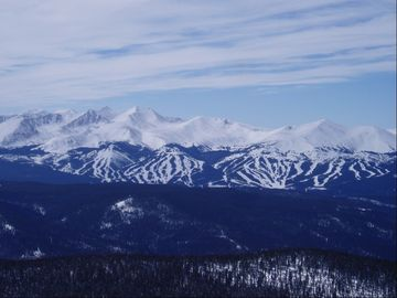 A view of Breckenridge Ski Resort from across the valley.